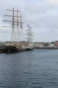 Old sailing ships on Bangor pier